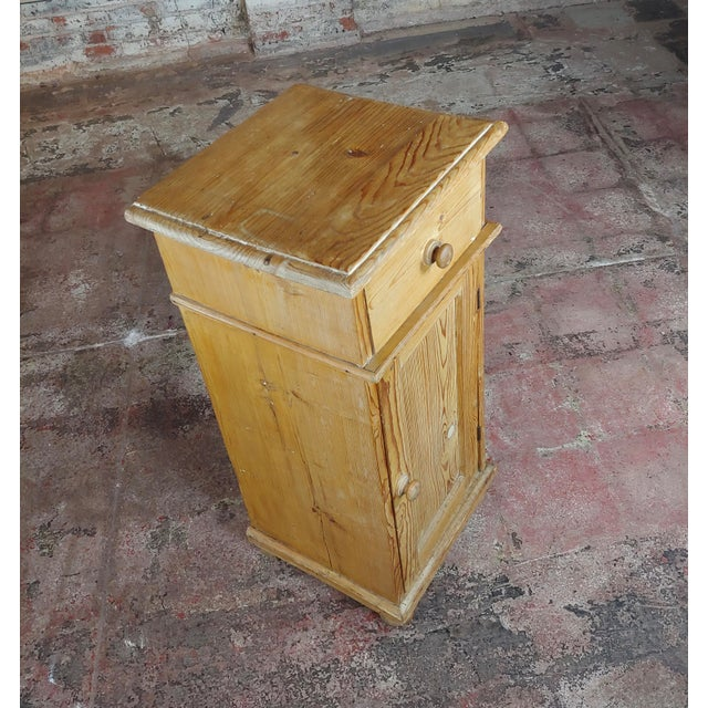 Americana Antique Pine Cabinet Stand For Sale - Image 3 of 10
