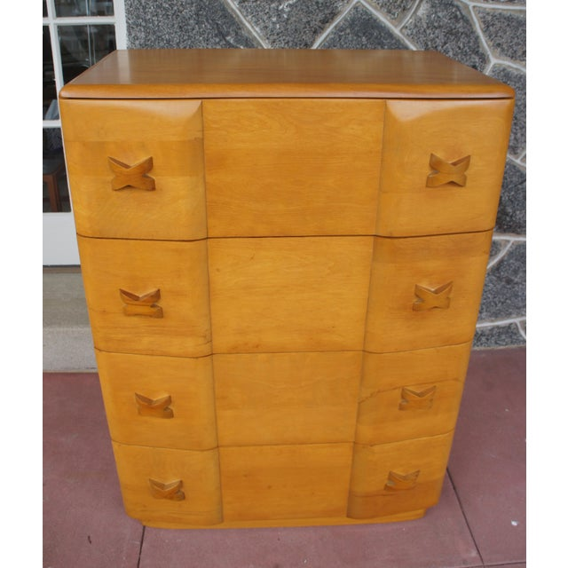 Heywood-Wakefield Heywood Wakefield Rio Champagne Maple Dresser For Sale - Image 4 of 11