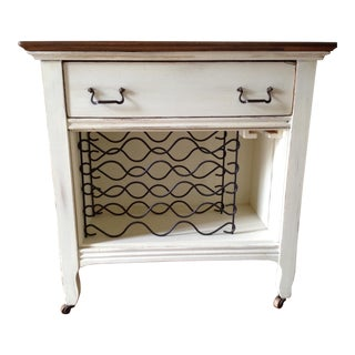 1920s Shabby Chic Dry Bar/Wine Cabinet For Sale