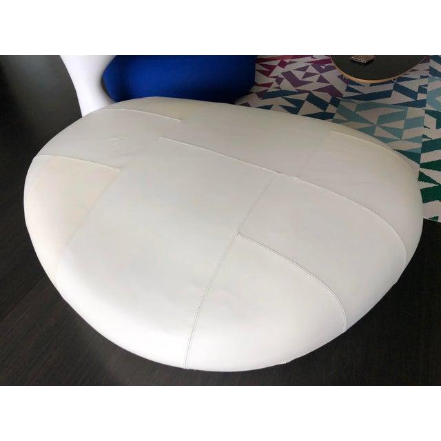 Naoto Fukasawa Ishi Big White Leather Pouf