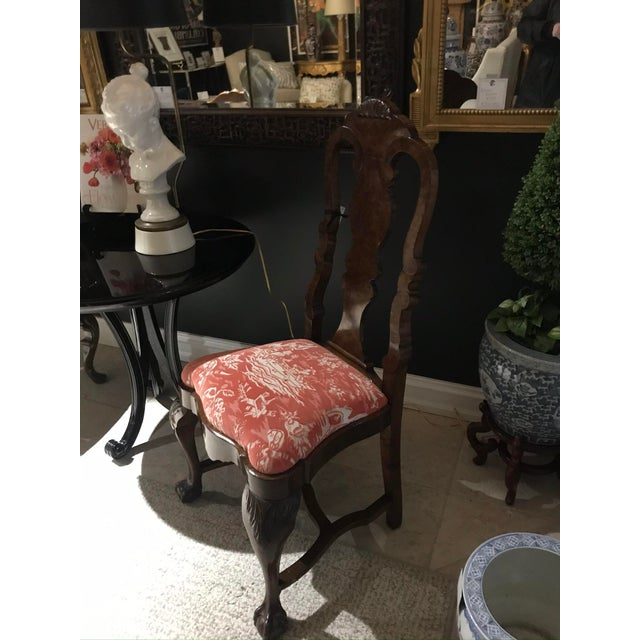 Chinoiserie Early 20th Century Ball and Claw Chinoiserie Desk Chair For Sale - Image 3 of 6