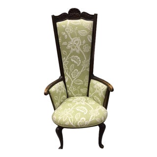 Mid Century High Back Armchair For Sale