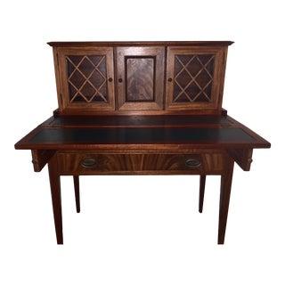 20th Century Traditional Kittinger Gainsborough Flame Mahogany Secretary Desk For Sale