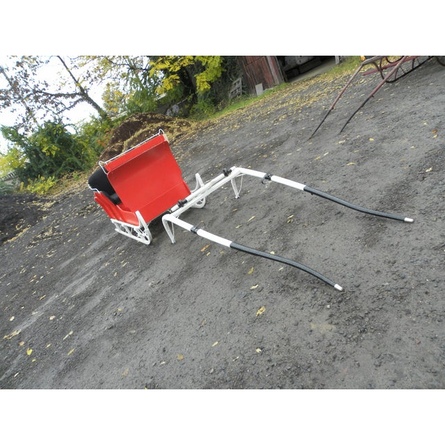 Equestrian Antique Restored Red Holiday Sleigh Sled - Image 7 of 11