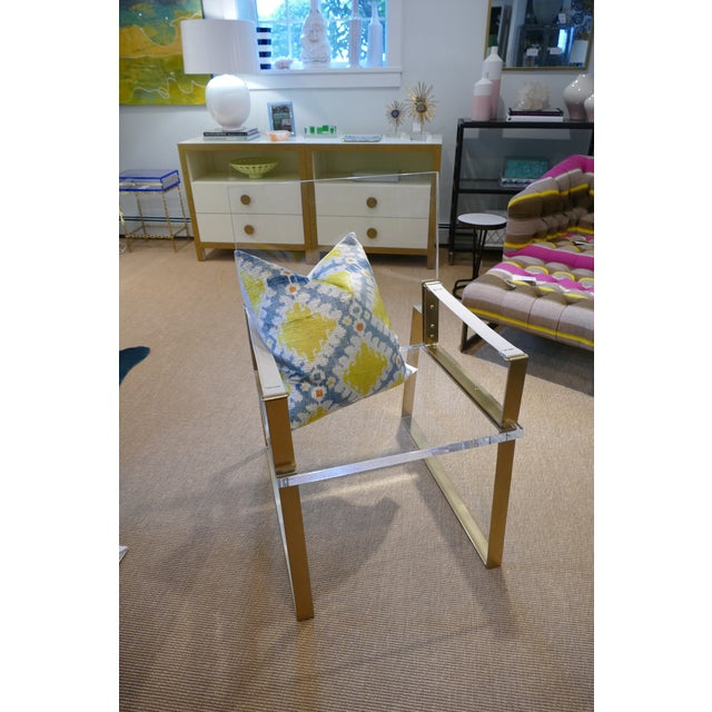 Century Lucite & Brass Halo Chair For Sale In New York - Image 6 of 12
