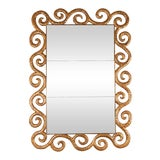 Image of Gilt Wood Serpentine Mirror by Harrison & Gil For Sale