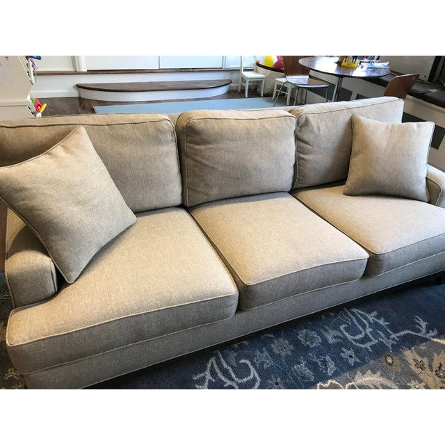 Gray Ethan Allen Arcata Sofa For Sale - Image 8 of 11