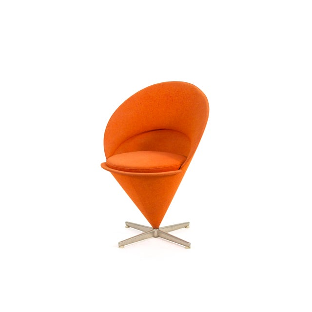 Contemporary 1950s Contemporary First Series Verner Panton Cone Chair For Sale - Image 3 of 11