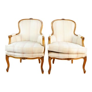 French Style Armchairs- A Pair For Sale
