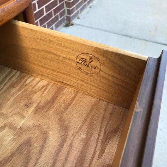 Brown Vintage Mid-Century Modern Drexel Declaration Walnut 3-Drawer Dresser by Kipp Stewart For Sale - Image 8 of 9