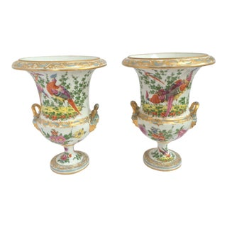 Stunning Large Pair Of Porcelain Urns