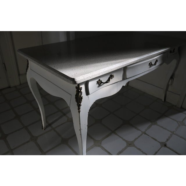 Contemporary 20th Century Victorian Style Writing Desk For Sale - Image 3 of 13