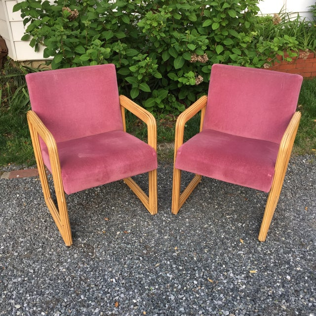 Gabriella Crespi Style Pencil Reeded Velvet Chairs - a Pair For Sale - Image 13 of 13
