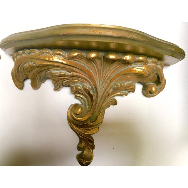 Gilt Wood Carved Italian Brackets - A Pair - Image 3 of 5
