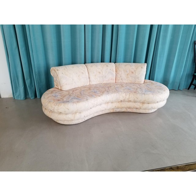 Adrian Pearsall for Comfort Designs Curved Kidney Shaped Sofa/ Final Markdown - Image 4 of 5