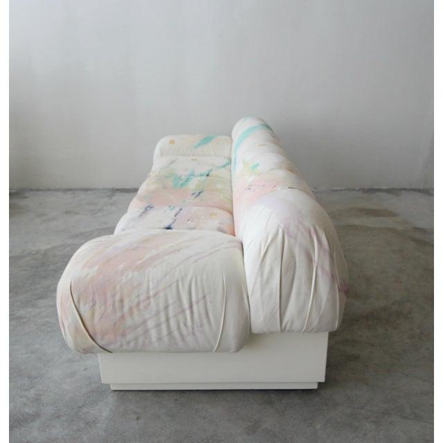 Custom Oversized Post Modern Italian Sofa on Plinth Base For Sale In Las Vegas - Image 6 of 9