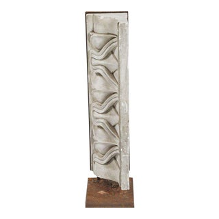 Carved Plaster Architectural Relief Mounted on Iron Stand For Sale