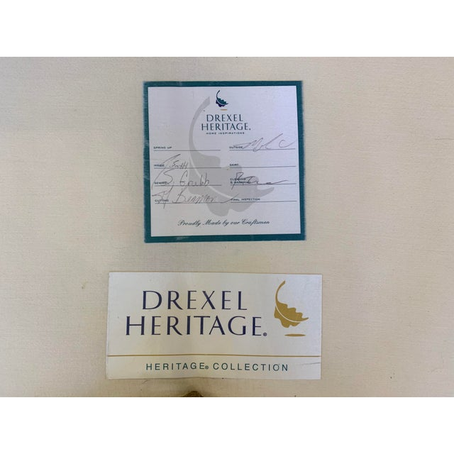 Drexel Heritage Kidney Bean Shape Olive-Green Curved Sofa For Sale - Image 11 of 12