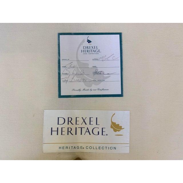 Drexel Heritage Kidney Shape Olive-Green Curved Sofa For Sale - Image 11 of 12