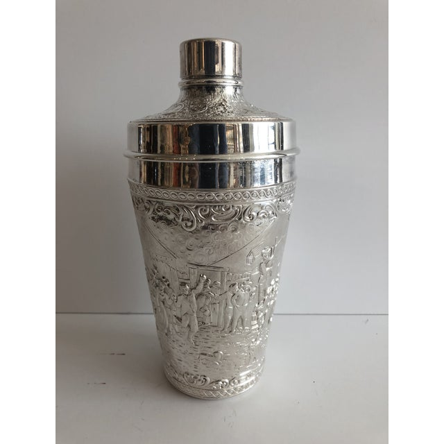 Late 19th Century 19th C. Barbour Repoussed Cocktail Shaker For Sale - Image 5 of 7