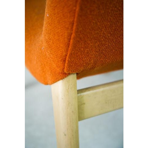 Norman Bel Geddes Mid-Century Modern Orange Side Chair - Image 9 of 9