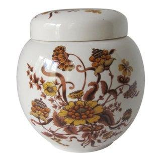 Vintage Sadler Autumn Pattern Ginger Jar For Sale