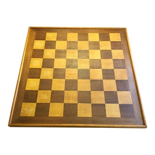1970s Vintage Treen Wood Game Board/Tray