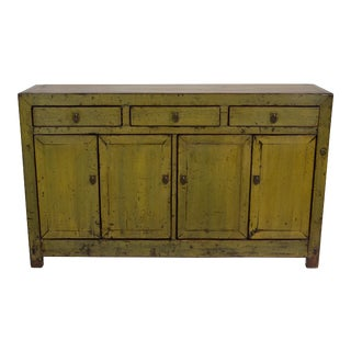 Antique Lacquer Finish Dongbei Sideboard For Sale