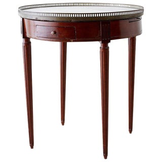 French Louis XVI Style Marble Top Bouillotte Table For Sale