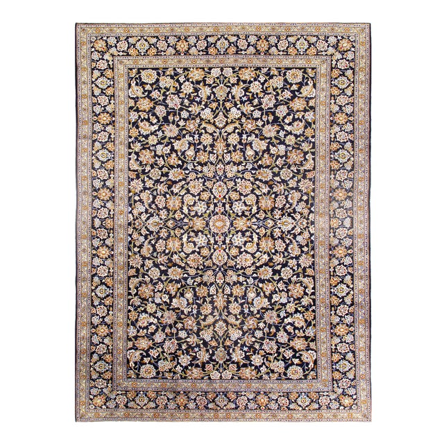 Pasagad Semi-Antique Kashan Hand-Knotted Rug - 10′ × 14′ For Sale - Image 4 of 4