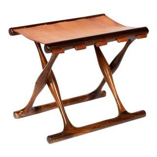 Poul Hundevad Rosewood Stool For Sale