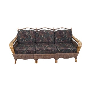 Braxton Culler Wicker Sofa