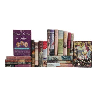 Mid-Century Dustjacket Novels in Violet - Set of 20 For Sale