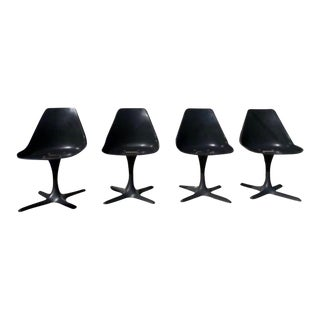 """Mid Century """"Tulip"""" Style""""-Non Swivel Side Chairs- Set of 4 For Sale"""