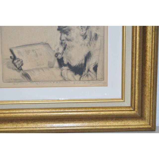 "Elias Grossman ""Quite Hour"" Etching c.1934 For Sale - Image 4 of 8"