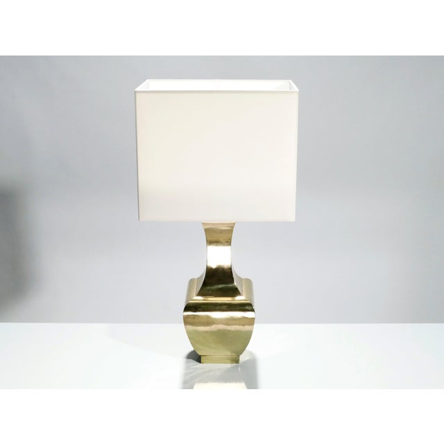 1970s Pair of French Brass Table Lamps, 1970s For Sale - Image 5 of 8