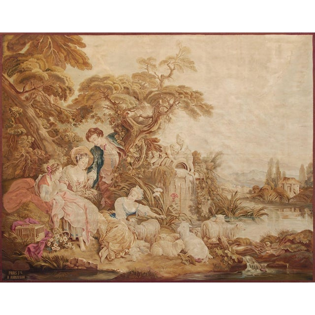 19th Century Antique Tapestry Cartoon by François Boucher For Sale