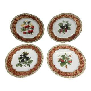 Andrea by Sadek Winterthur Adaption Dinner Fruit Plates - Set of 4 For Sale