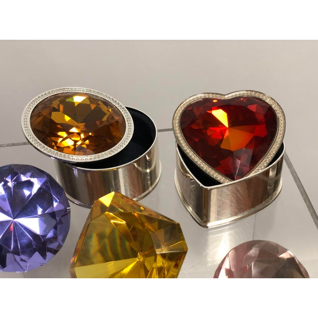 2010s Collection of Crystal Gemstone Paperweights & Boxes - Set of 6 For Sale - Image 5 of 9