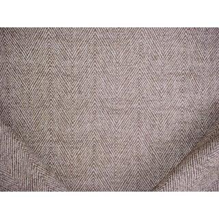 Modern Kravet Lizzo Altai Russet Mocha Chevron Herringbone Upholstery Fabric- 11-3/4 Yard For Sale