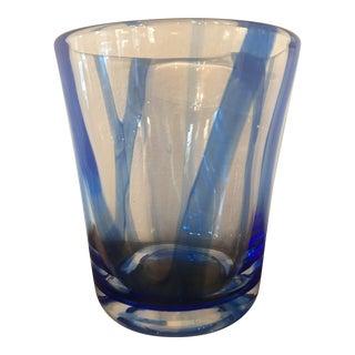 Blue Swirl Murano Style Vase