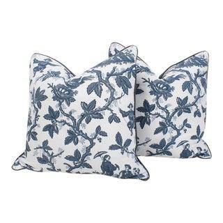 Salamandre Toile Linen Pillows, Pr For Sale