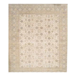 "Pasargad Pak Handmade Hand-Knotted Khotan Design Lamb's Wool Rug -13'x16'1"" For Sale"