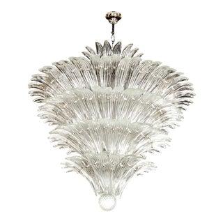 Exquisite Five-Tier Palma Murano Glass Chandelier
