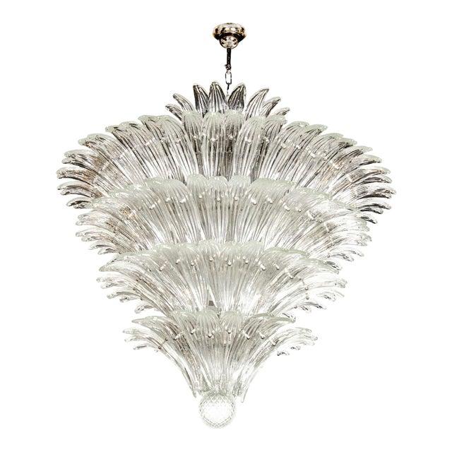 Exquisite Five-Tier Palma Murano Glass Chandelier - Image 1 of 9