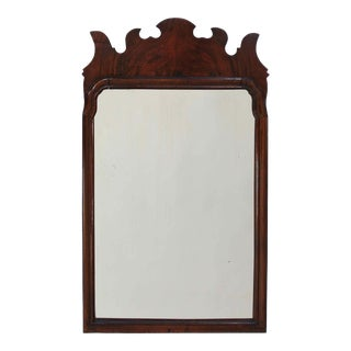Late 19th Century Queen Anne Mahogany Mirror For Sale