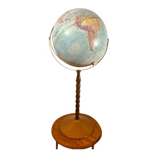 Vintage Stand Globe For Sale