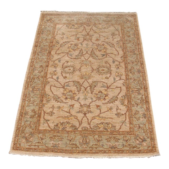 Traditional Hand Knotted Area Rug - 4′2″ × 6′4″ - Image 1 of 8