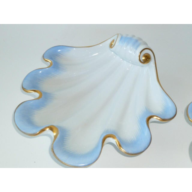Herend Pair of Deco 1939 Herend Shell Form Modern Vessels For Sale - Image 4 of 11