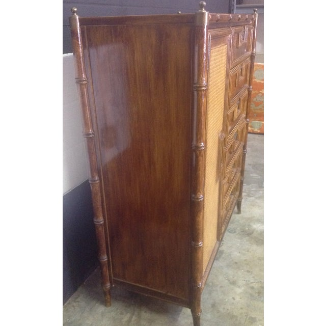 Stanley Faux Bamboo Dresser - Image 6 of 8